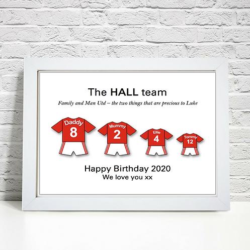 Personalised Football Family Print