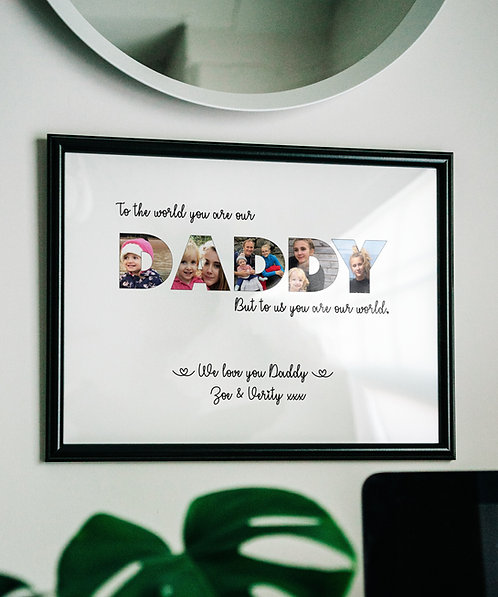 Personalised DADDY photo gifts