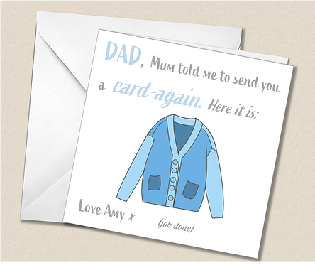 Personalised Father's Day Card - Humorous Card Again - FD05