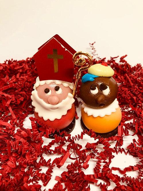 Marsepein Sint & Piet (per stuk)
