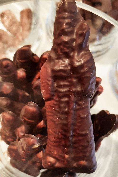 Marshmallow met chocolade (per 100 gram)