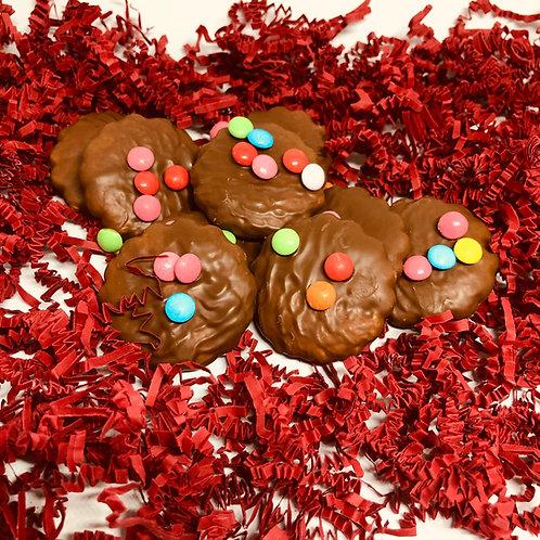 Speculoos met chocolade en smarties (per 100 gram)