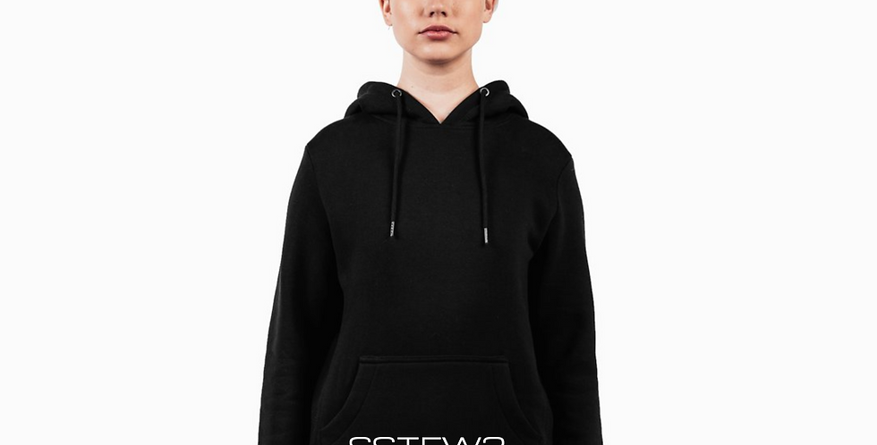 SSTEW3  Black Hooded Sweatshirt