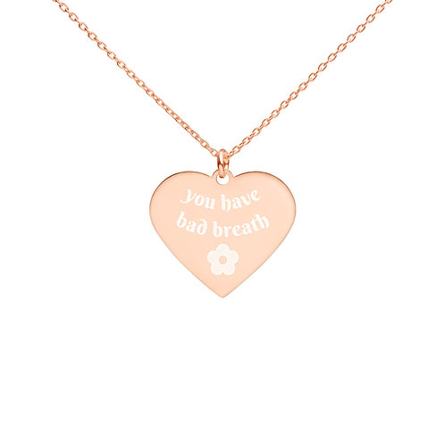 halitosis warning - heart necklace