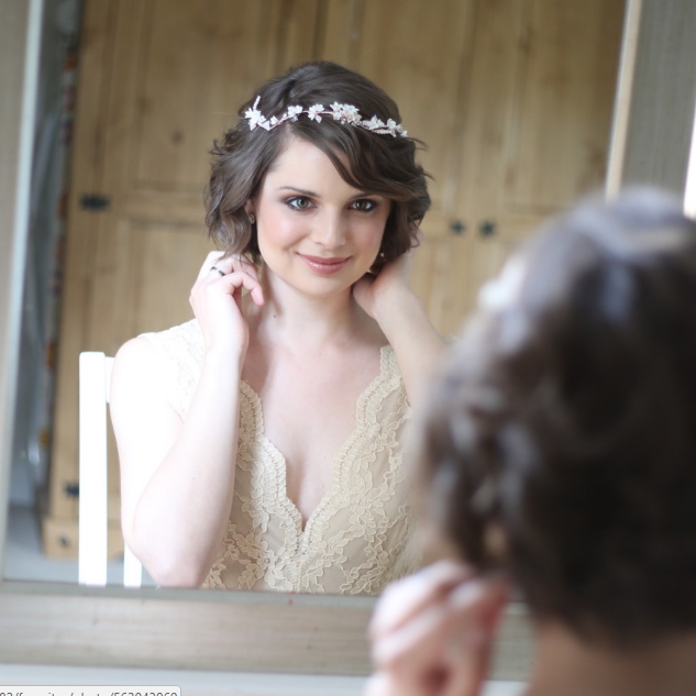 Short Wedding Hairstyles | Amanda White Hair and Makeup Professionals