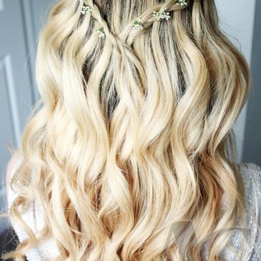 Waterfall Braided Hairstyle Ideas | Wedding Hairstyle | Amanda White.