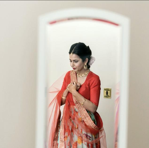 Indian Wedding Ceremony Hair and Makeup Inspiration | Amanda White