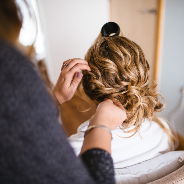Loosley Swept Bridal Hair-Up | London Wedding Hair and Makeup Artists | Amanda White
