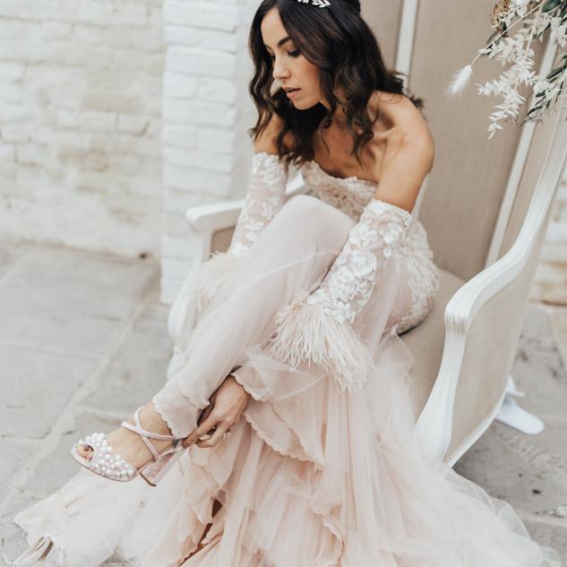 Glamourous Boho Bridal Hair and Makeup | Surrey Wedding Makeup Artist | Amanda White