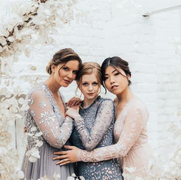 Bridal Party Hair and Makeup | Bridesmaid Inspiration | Amanda White