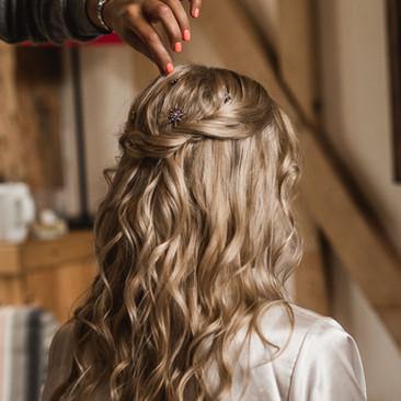 Gorgeous Wavy Wedding Hair | Surrey Hairstylist Team| Amanda White