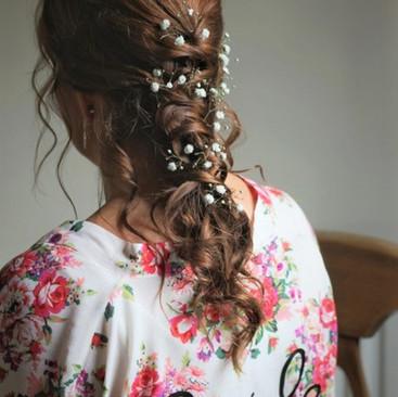 Trailing Braid Wedding Hairstyle | Flowers in Hair | Amanda White