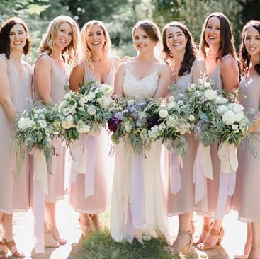 Natural Bridesmaid Hair and Makeup| Professional Hair and Makeup Team | Amanda White
