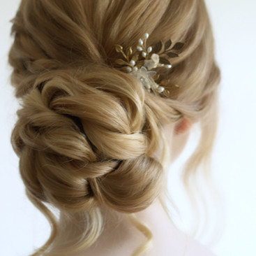 Twisted Textured Hairstyle | Kent Bridal Hairstylist | Amanda White and Team.