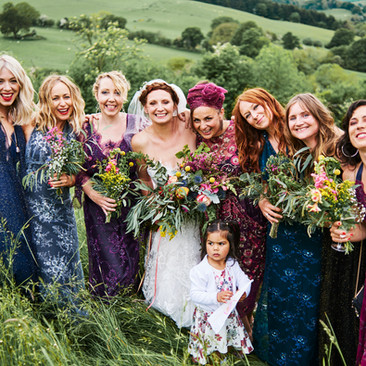 Colourful Bridal Party Ideas | Amanda White Hair and Makeup Services