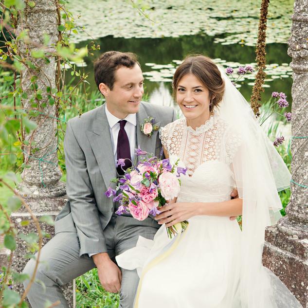 Wedding by a Lake | Bridal Hair and Makeup Artist Team | Amanda White
