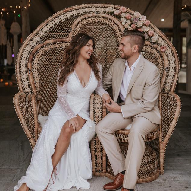 Rattan Wedding Ideas | Bridal Hair and Makeup | Amanda White