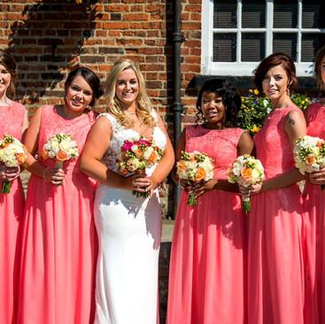 Beautiful Bridesmaids Hair Down | Hairstyling Team Amanda White based in London