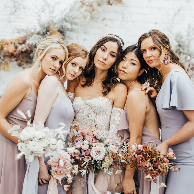Bridal Squad | Bridesmaids Style Ideas | Amanda White Hair and Makeup Artist
