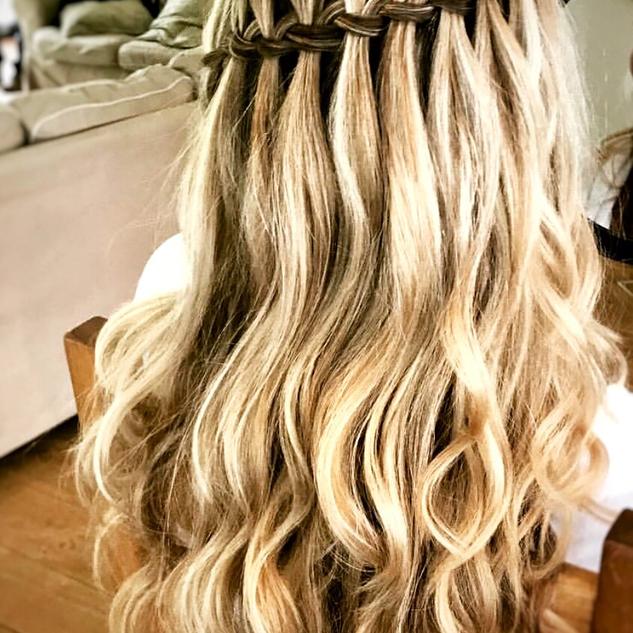 Waterfall Braided Hair | Wedding Hair | Amanda White