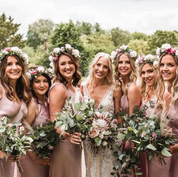 Boho Bridesmaids | Boho hairstyling by Amanda White | Surrey Hairstylist
