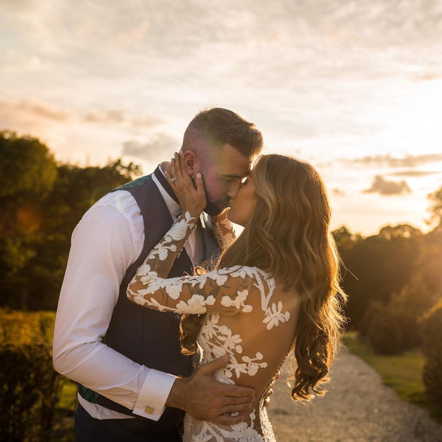 Sunset Wedding | Outdoor Wedding | Amanda White Hair and Makeup.