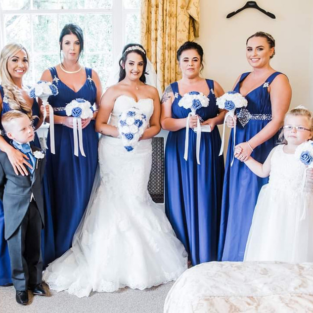 Beautiful Bridesmaids Hair Down | Hairstyling Team Amanda White based in Kent