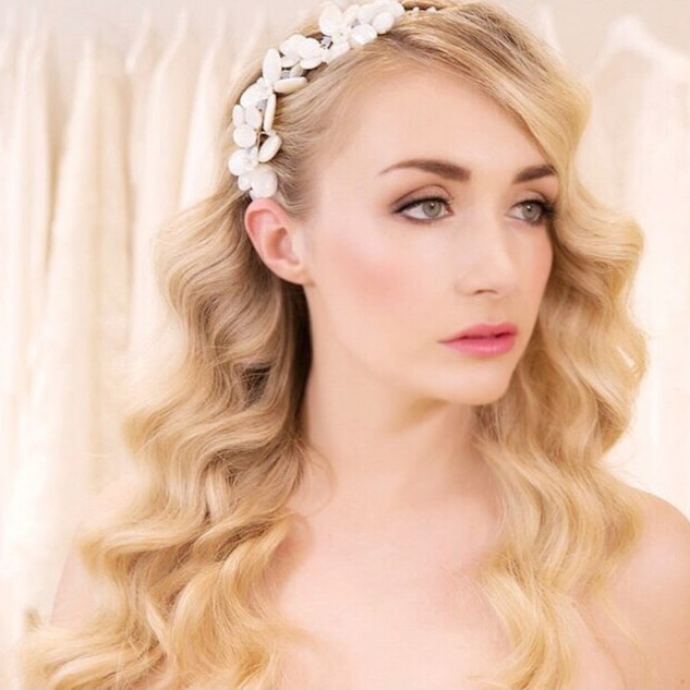 Hollywood Wave Bridal Hairstyle | Hair and Makeup Professionals | Amanda White