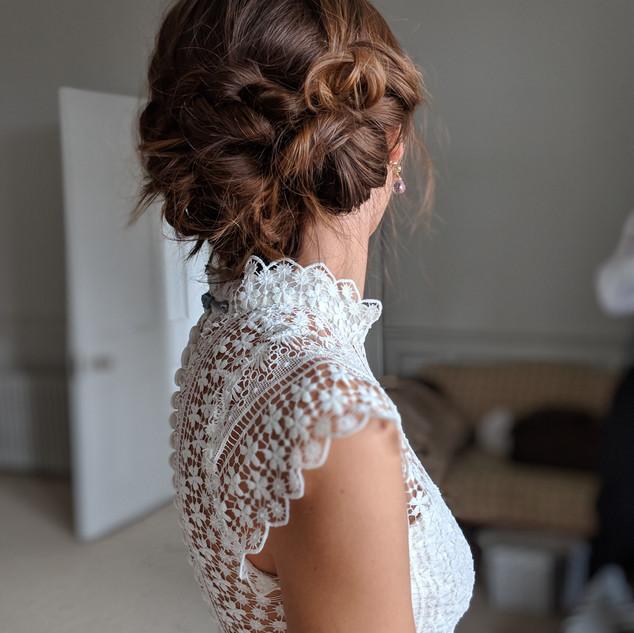 Textured Knotted Hairstyle | Wedding Hair Ideas | Amanda White