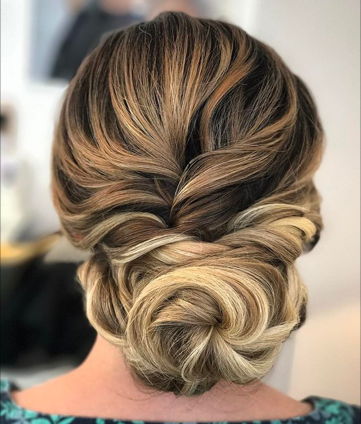 Twisted Textured Hairstyle | Surrey Bridal Hairstylist | Amanda White and Team.