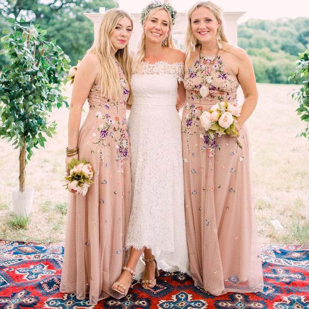 Whimsical Bridesmaid Hair and Makeup | Bridal Makeup Artist Amanda White