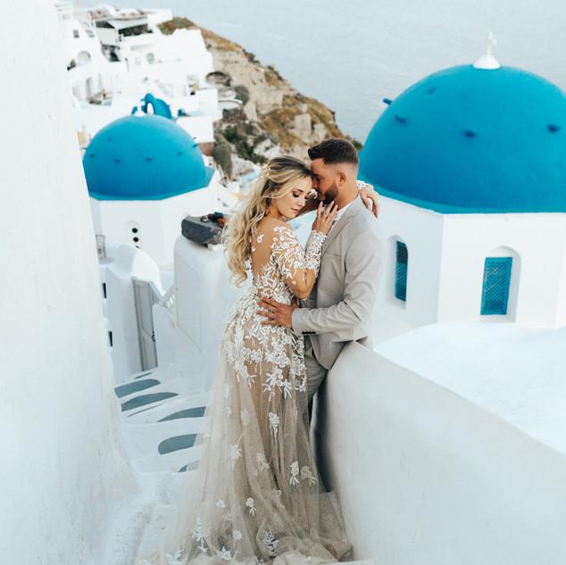 Greek Hairstyle Ideas | Santorini Wedding| Destination Wedding | Amanda White