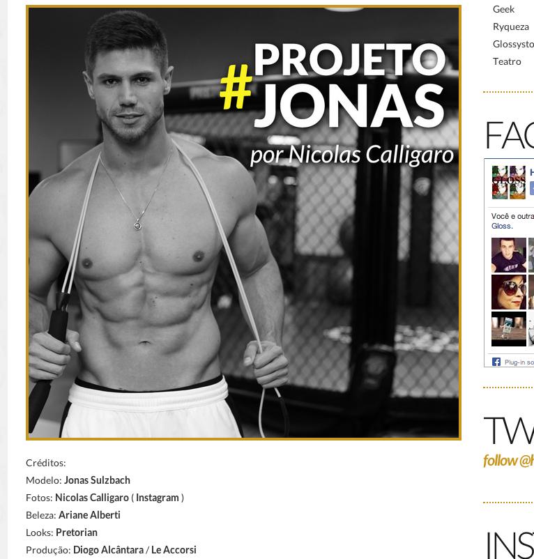 Projeto Jonas para Hugo Gloss