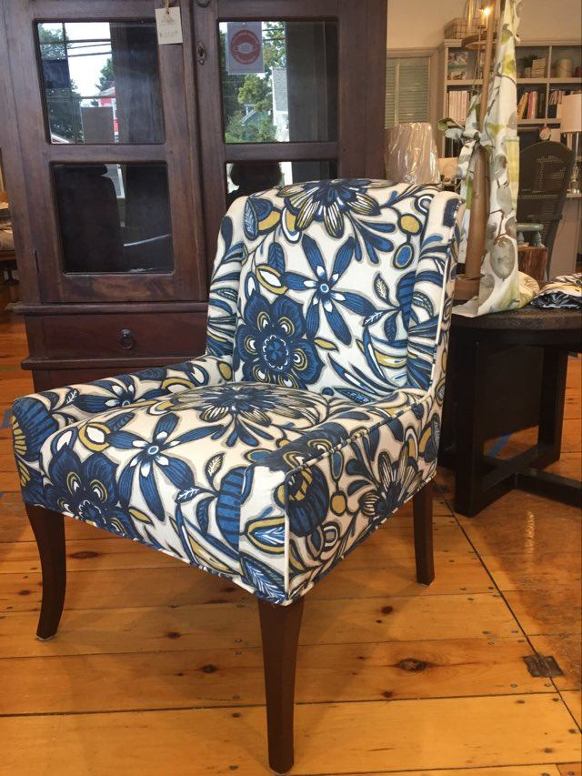 Bold floral pattern chair