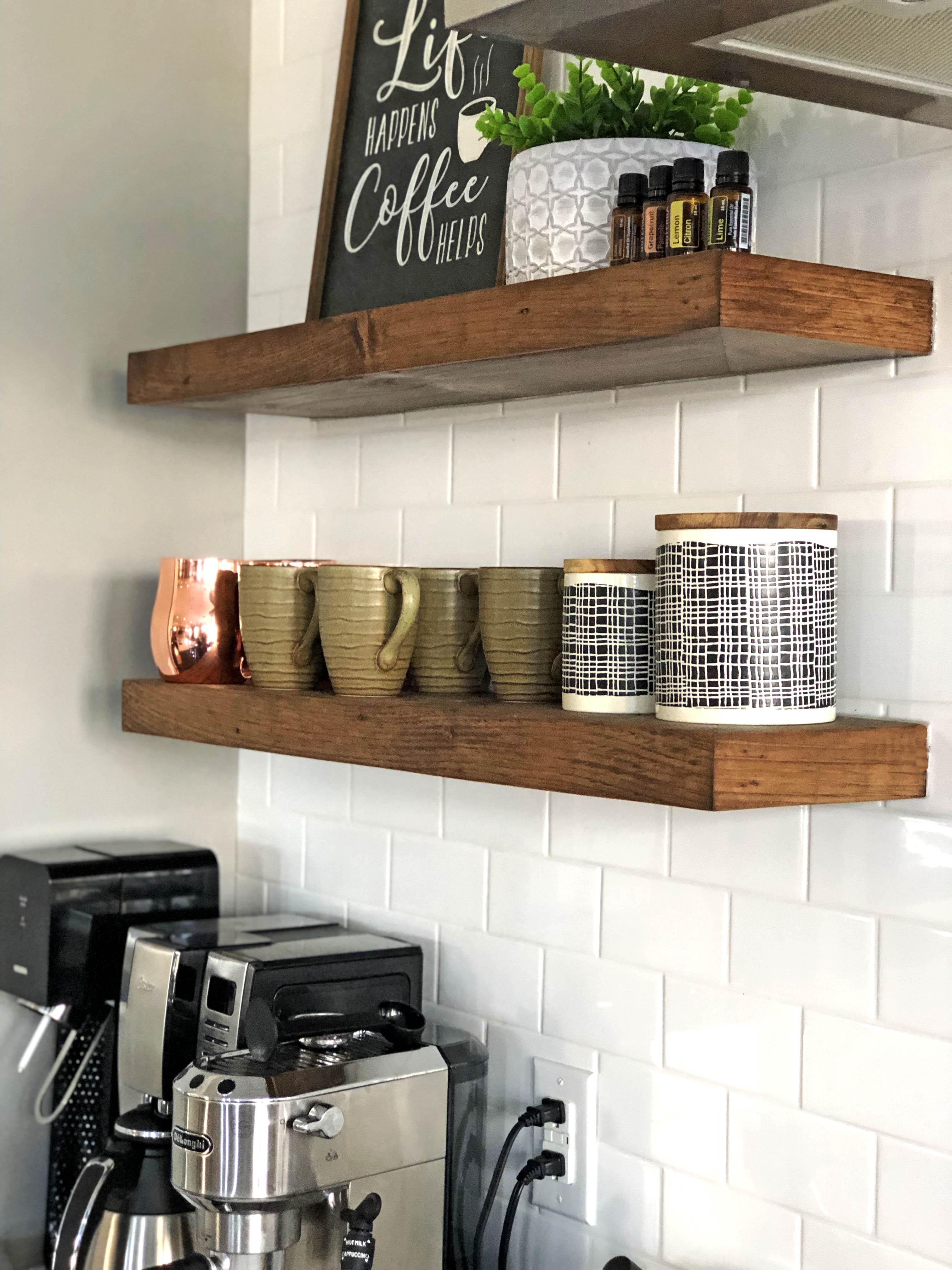 Floating Hemlock Shelves