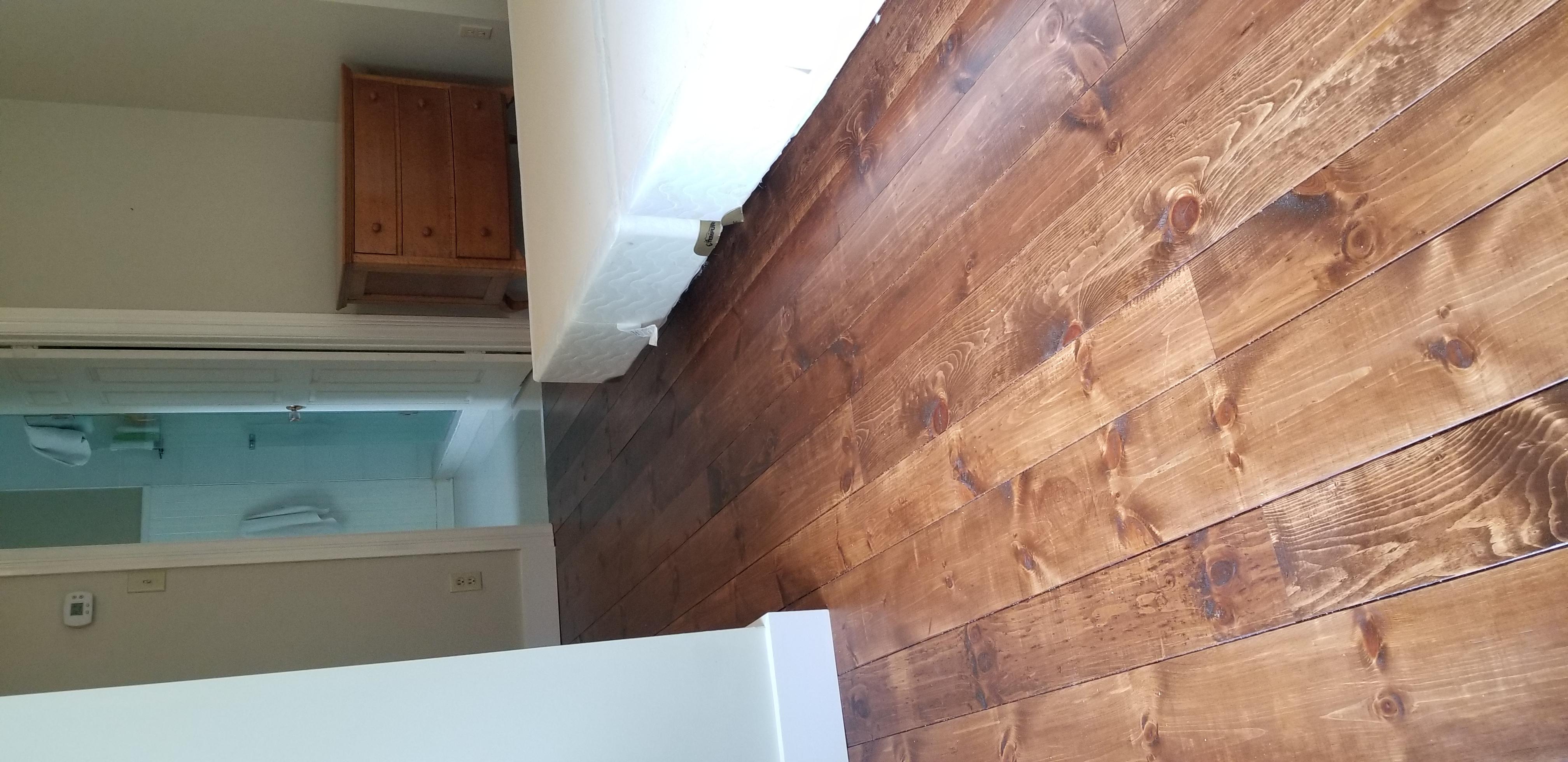 Flooring repair & Solid Pine Wood Install Custom Stain Match