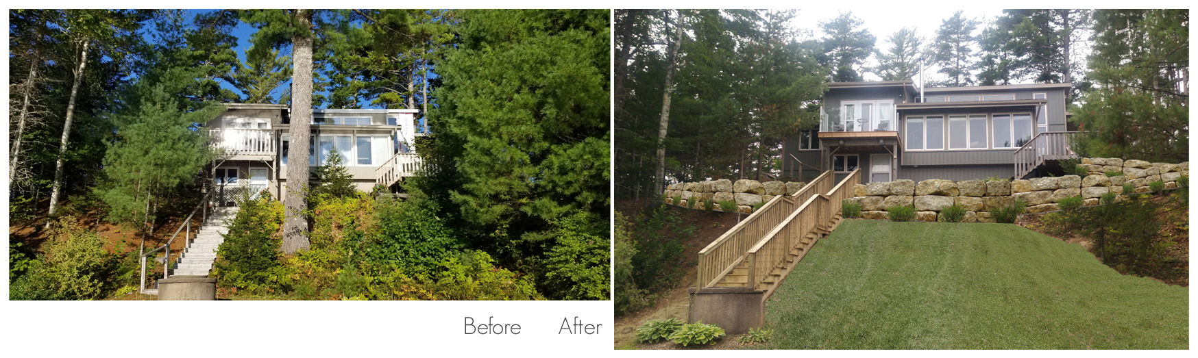 Before and After Siding and Deck Job