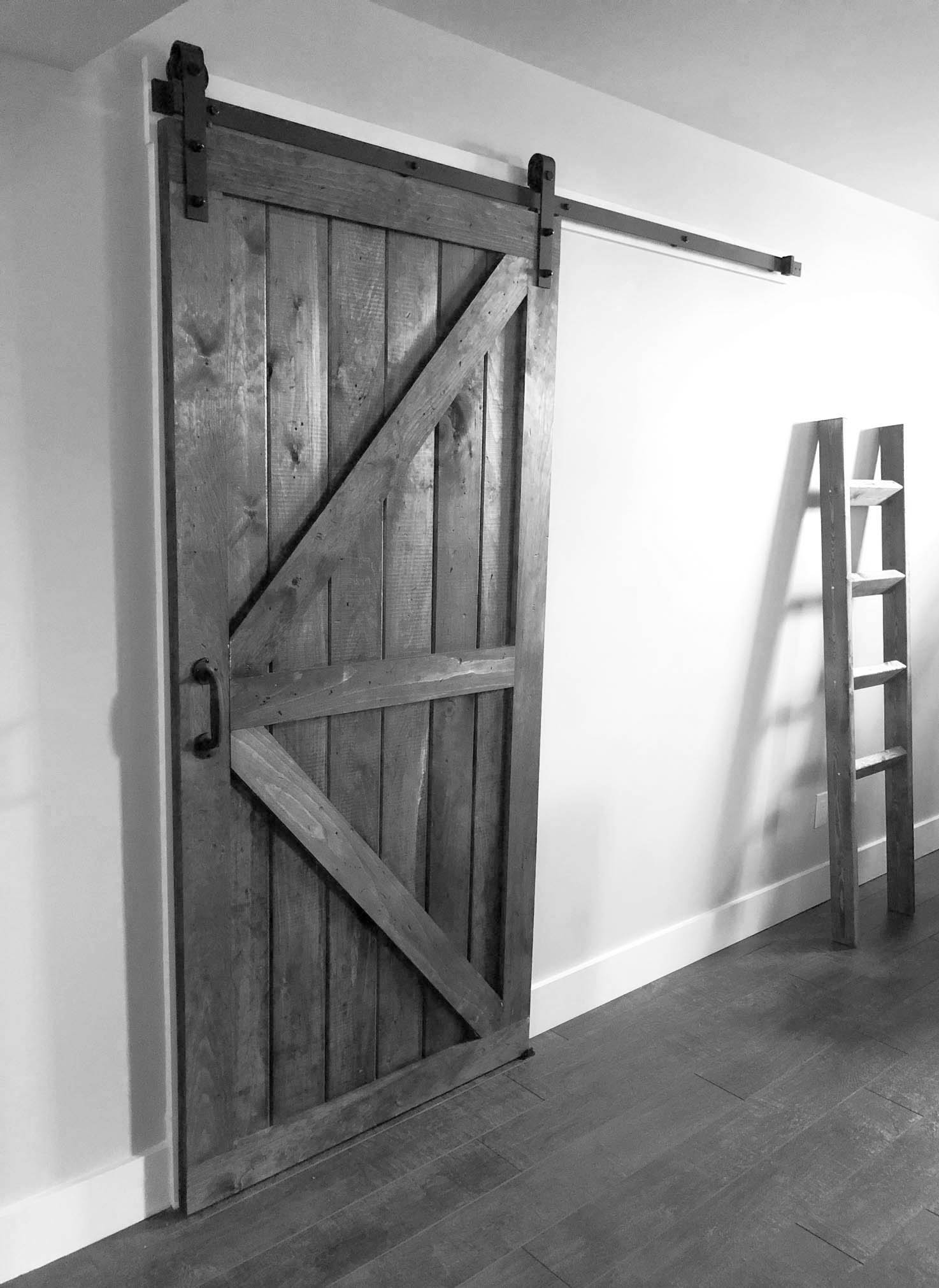 Barn Door - black and white