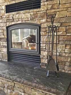 fireplace upclose