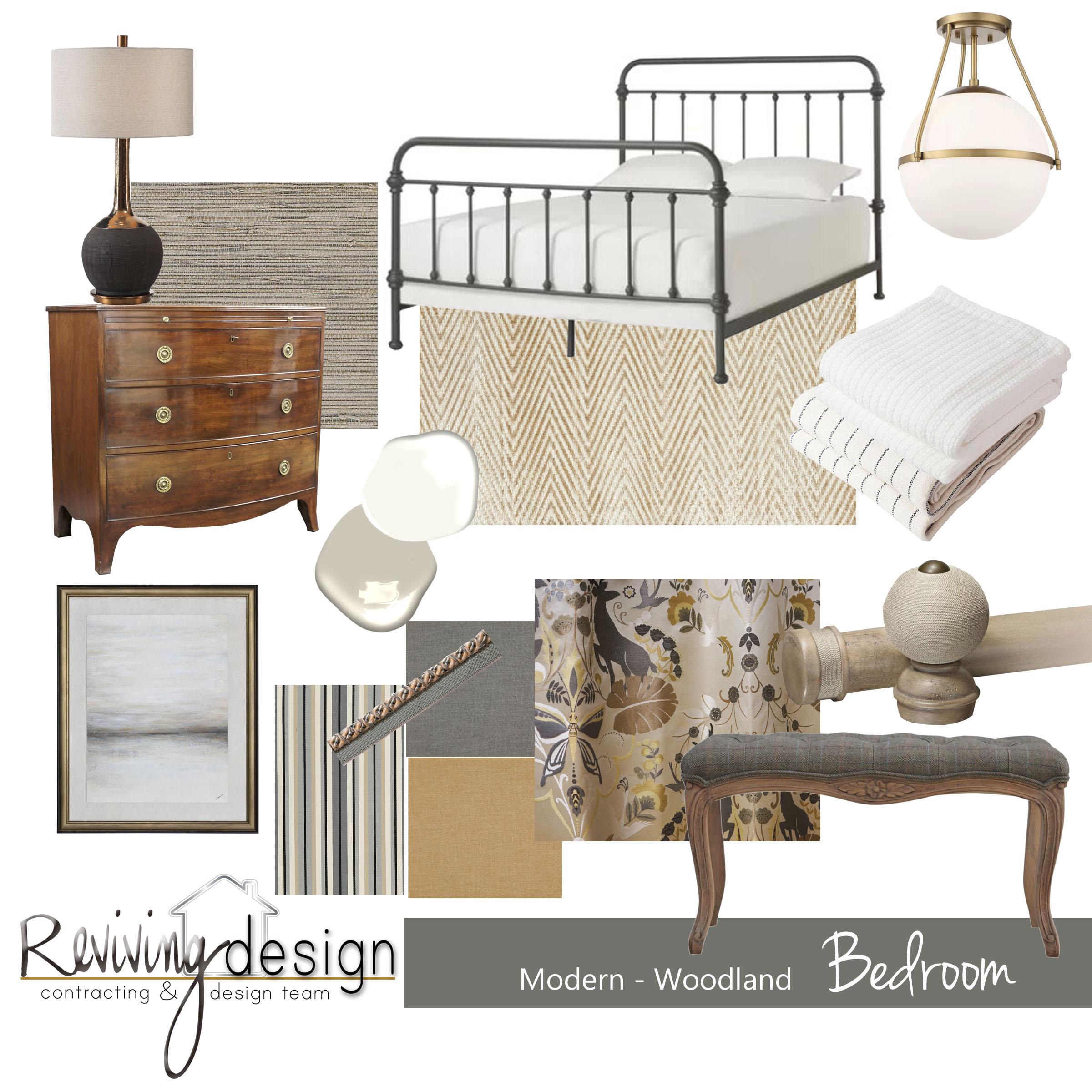 Modern Woodland Bedroom Concept