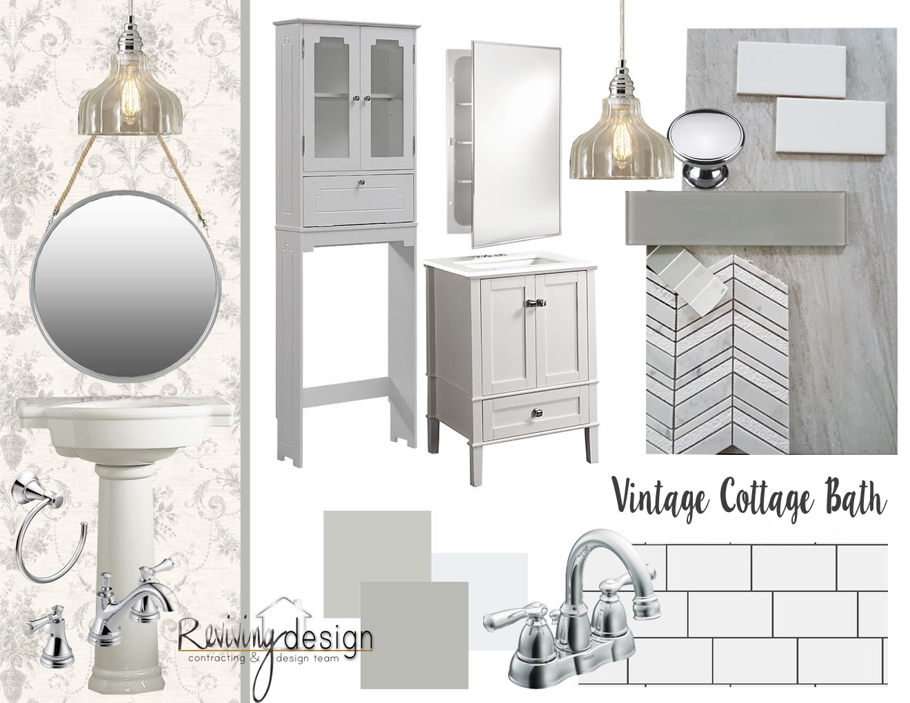 Vintage Cottage Bath Concept