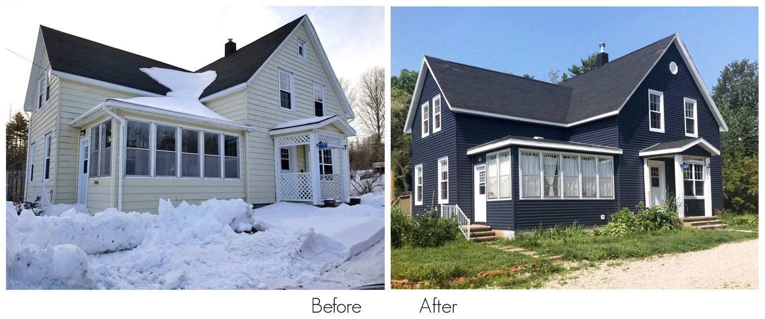 before and After Siding Job