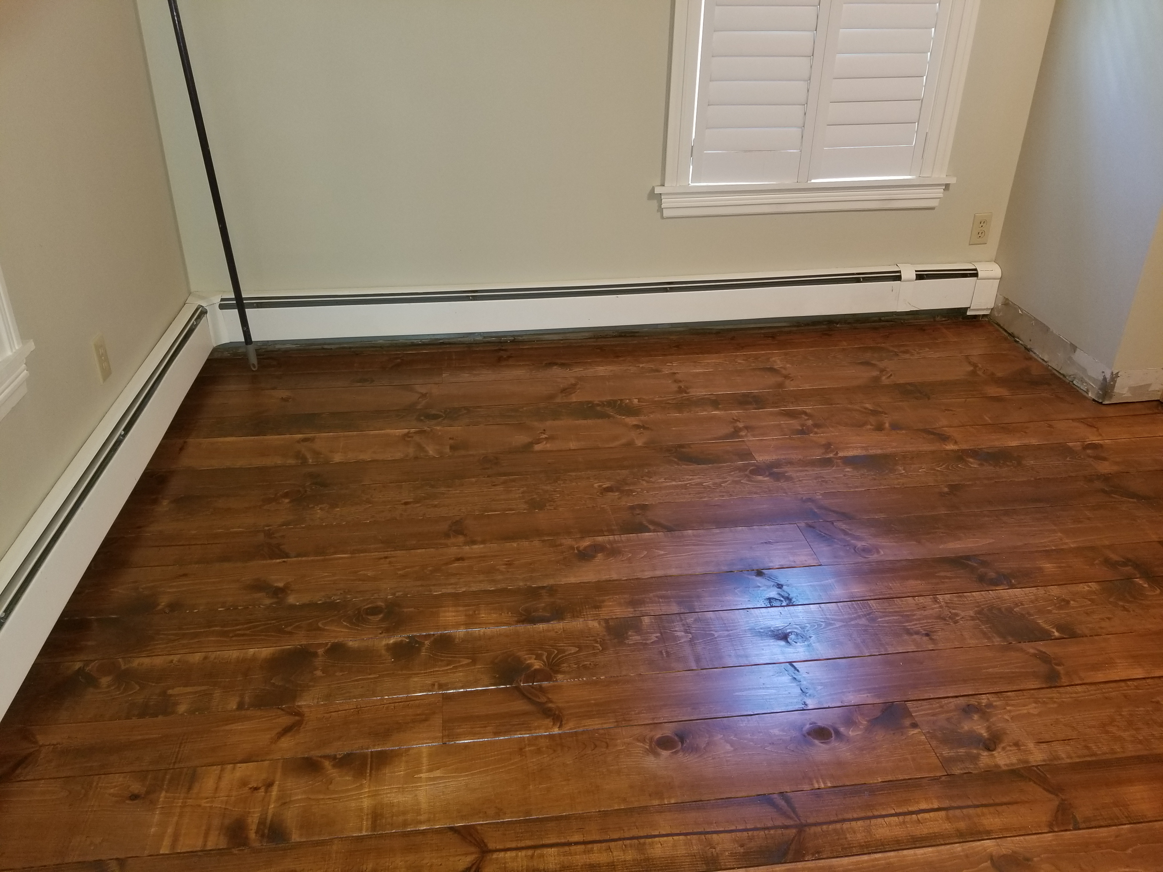 Flooring repair & Solid Pine Wood Install Custom Stain Match
