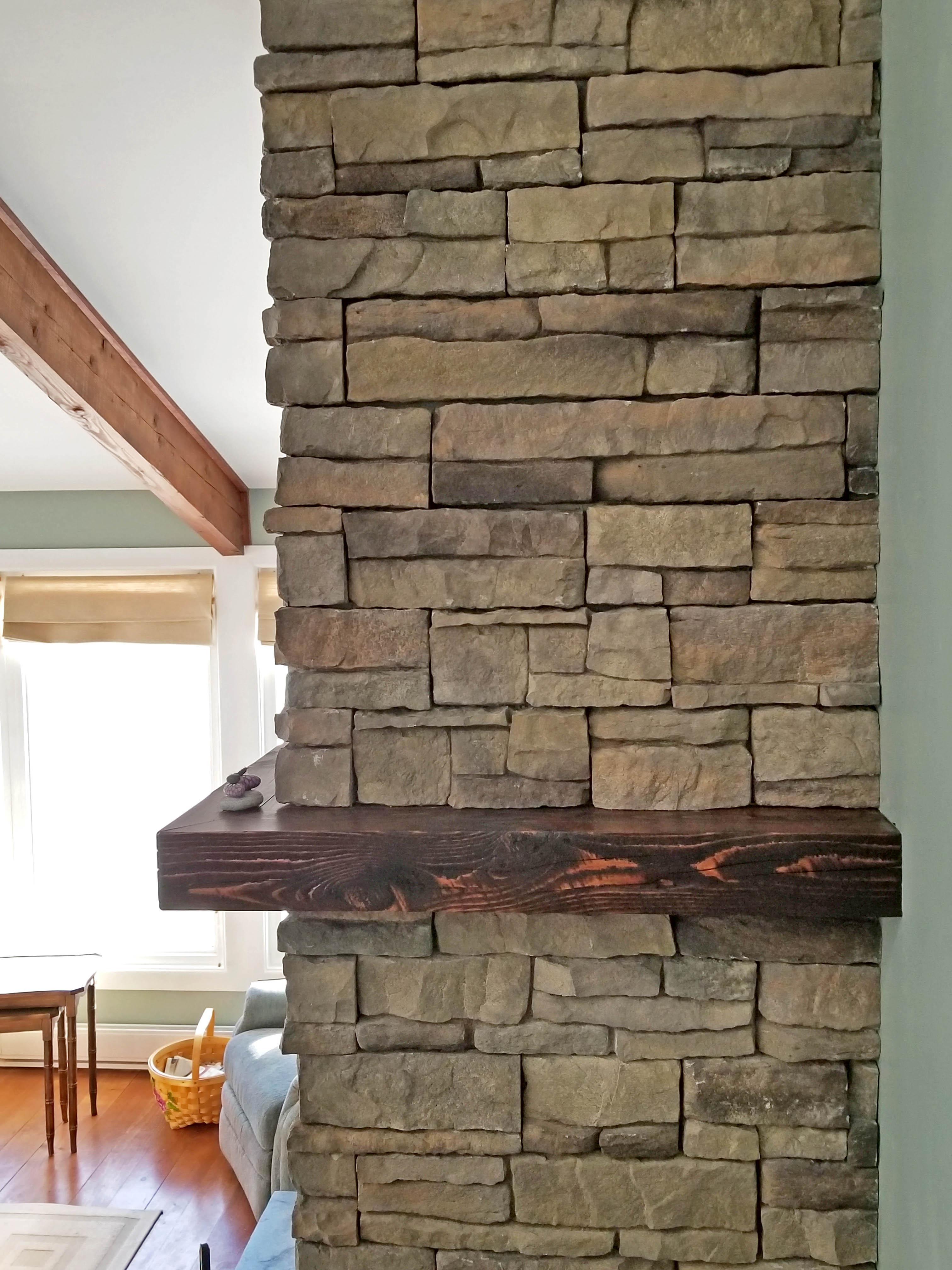 fireplace side
