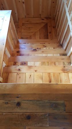 barnwood stairs refinishing