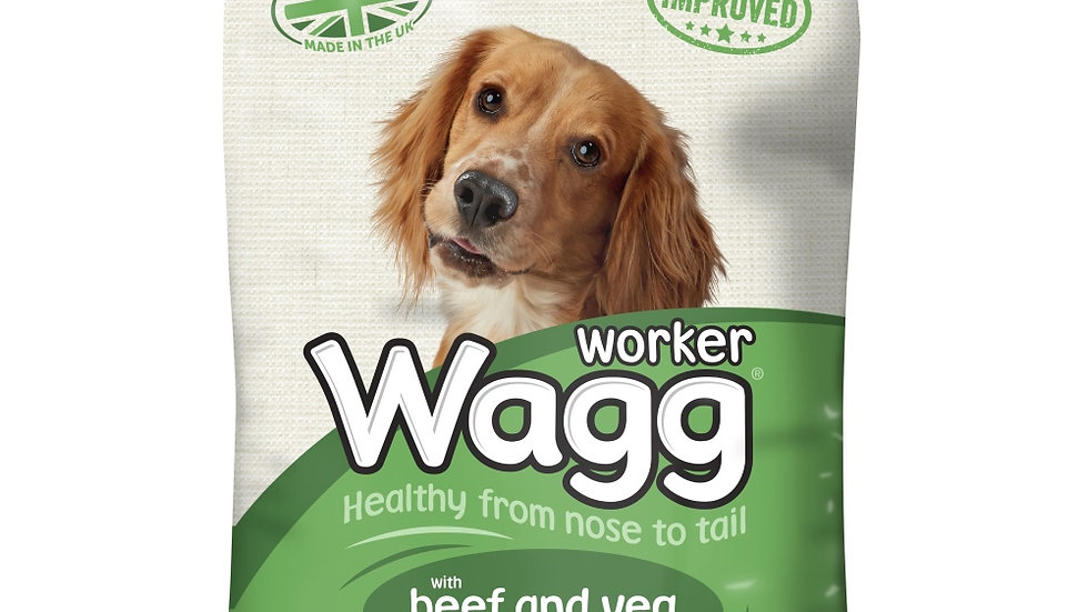 Wagg Complete Worker with Beef & Vegetables 17kg