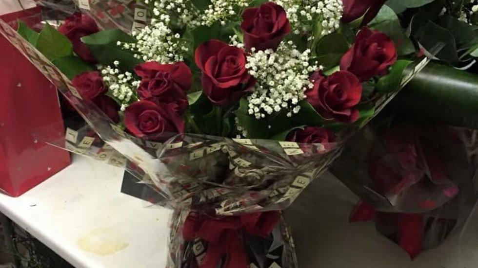 12 standard roses