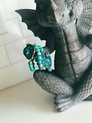 Turquoise on Druzy