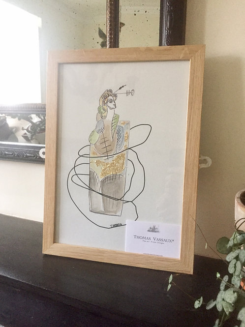 Tribe Figure 1 - from Limited Edition of 11- Framed