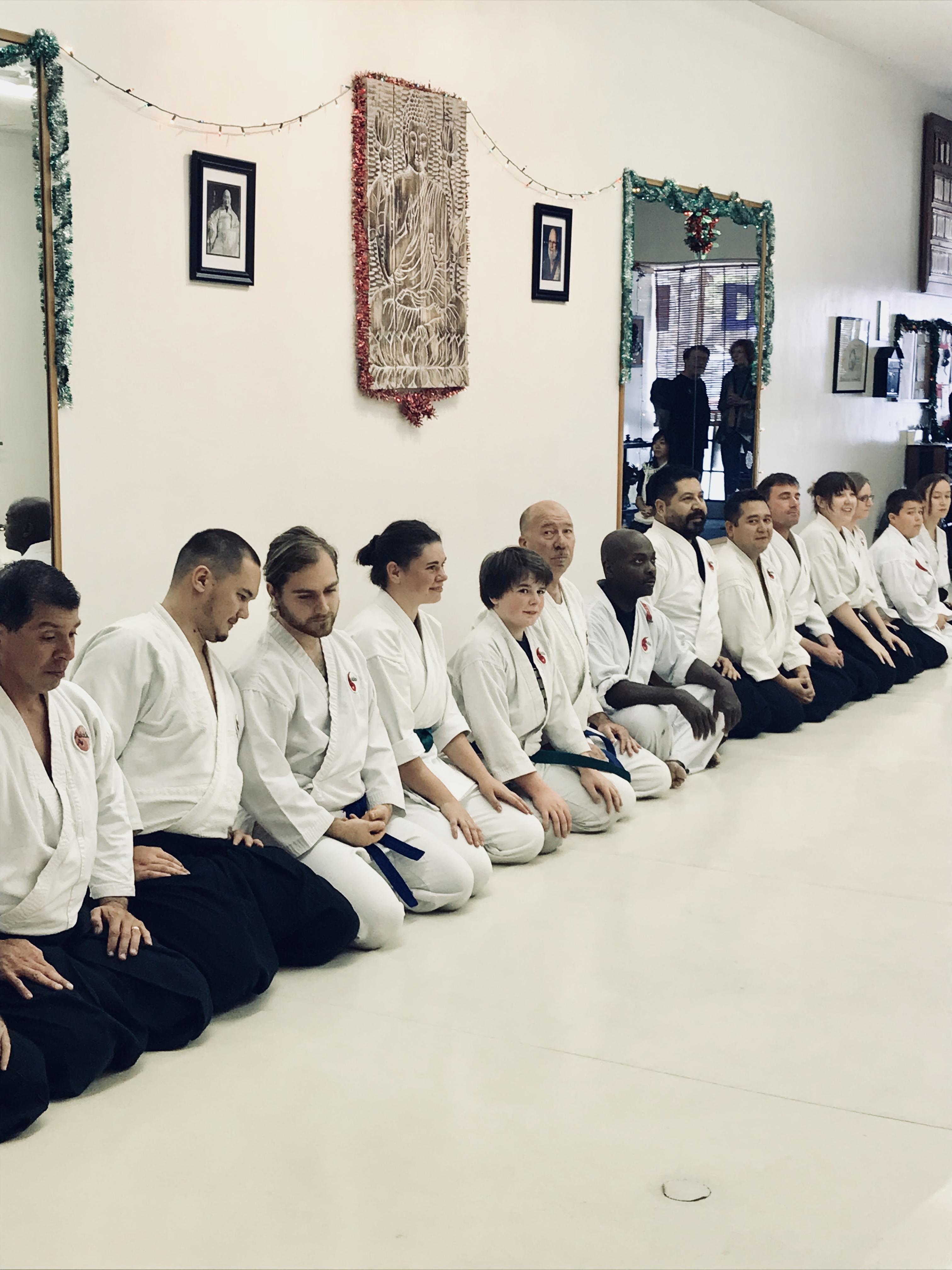 Aikido class line-up